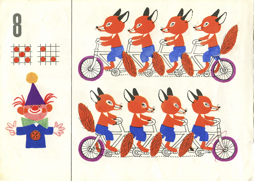 "3 Károly Reich, from ""The How Many Book"", Jonathan Cape 1972 cubsonbikes 1"
